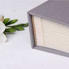 Guest Book Photo Album Wedding Guest Book Birthday Album Instant Gray With White