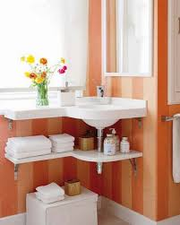 bathroom special design of narrow wall mounted small bathroom bathroom best under sink organization with small bathroom storage ideas using stripe orange colored wall