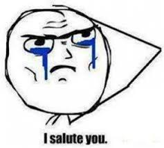Crying Face Meme - i salute you crying face troll face meme commentphotos com
