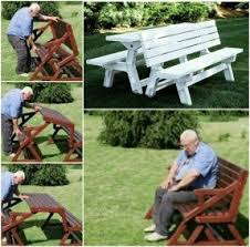 Convertible Picnic Table Bench Best 50 Picnic Benches Foter