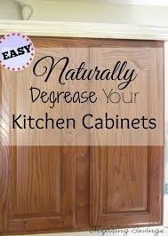 how to clean cabinets with vinegar degrease kitchen cabinets with an all