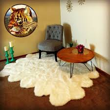 Fur Area Rug Fur Accents Faux Fur Area Rug Flokati Sheepskin 6 Pelt