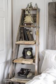 vintage on the shelf make an upcycled stepladder side table with shelves instantly