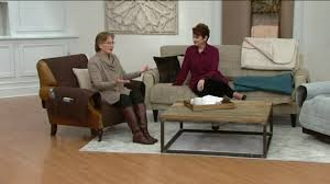 Qvc Recliner Covers Sure Fit Furniture Cover Sofa With Memory Foam Seat Page 1 U2014 Qvc Com