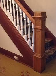 Stair Moulding Ideas by Thick Newel Post And Straight Stringer Stair Pics Pinterest