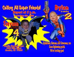 batman u0026 spiderman personalized photo birthday invitations 1 19