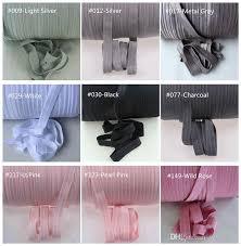 elastic ribbon wholesale 5 8 solid color fold elastic foe ribbon 81 colours for
