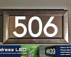 light up address sign lighted address sign light up address signs house numbers that glow