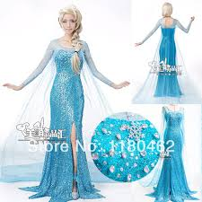 Queen Elsa Halloween Costume Frozen Party Cosplay Snow Queen Elsa Victorian Princess