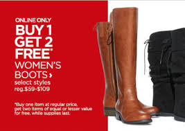 womens boots on sale jcpenney buy 1 pair boots get 2 free pairs at jcpenney midgetmomma