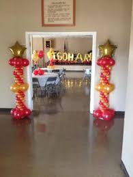 red white and black graduation party balloon decor pinterest
