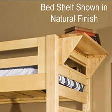 university loft graduate series twin xl bunk bed natural finish