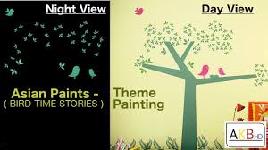 kids room painting designs by asian paints bird theme painting