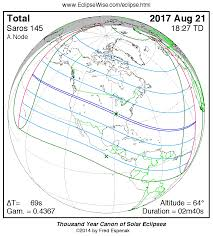 Show Map Of The United States by Total Eclipse Of The Sun August 21 2017
