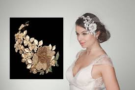 bridal hair accessories uk browne golden garden gold wedding headband bd080