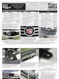 download 06 09 cadillac srx fender flares installation manual