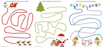 free printable fine motor tracing worksheets christmas themed