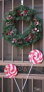 diy peppermint lollipops decor outdoor
