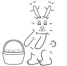 easter bunny connect the dots by capital letters easter