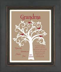 personalized mothers day gifts gift family tree 8x10 custom print personalized