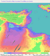 map of tunisia with cities tunisia elevation and elevation maps of cities topographic map