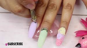 acrylic nails with 3d flowers pastel colors on nails easy nails
