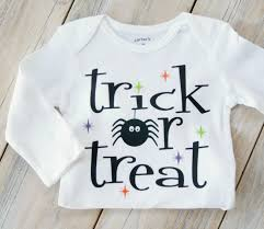 baby halloween onesies trick or treat halloween baby or boy onesie fall custom