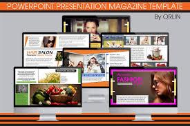 Magazine Presentation Template powerpoint magazine template presentation templates creative market