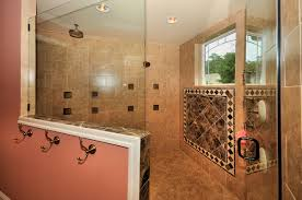 artistic master bathroom design using natural stones the home design