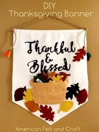 thanksgiving family leaf banner american felt craft