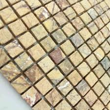 Marble Mosaic Floor Tile Mosaic Tile Square Gold Pattern Washroom Wall Marble Backsplash