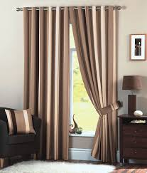 Chocolate Curtains Eyelet Natural Chocolate Whitworth Striped Readymade Eyelet Curtains 66