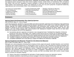 transportation resume exles air freight manager resume sle templates exle transportation