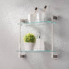 bathroom glass shelf 2 tier shower caddy bath basket stainless
