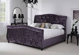 Velvet Sleigh Bed Bijou Sleigh Bed Home Living