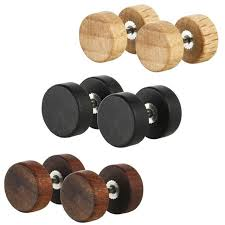 wooden stud earrings fhjewe brand buttons rock crude wood stud earrings high