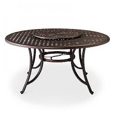 cast aluminum dining table folwell 60 cast aluminum dining table with lazy susan threshold