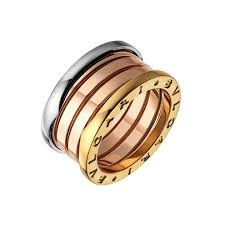 tricolor ring bulgari 18k tri color gold b zero1 4 band ring betteridge