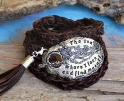 custom silver jewelry leather wrap bracelet personalized custom silver jewelry