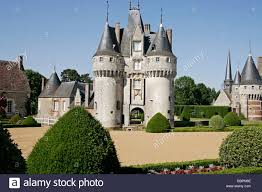 park and french style gardens at the chateau de fraze eure et