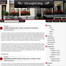format html sed old english blog template free website templates in css html js