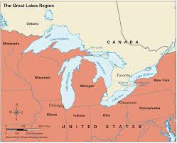 Map Of Lake Superior Mapping The Great Lakes With Map Usa Canada Border States