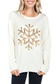 snowflake sweater s golden snowflake sweater tipsy elves