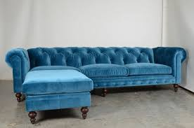chesterfield sofa with chaise stunning peacock blue sofa soho chesterfield tufted sofa with
