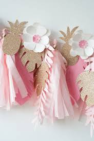 pink garland sydney s tropical pink gold birthday garland orange paper shoppe