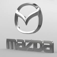 mazda logos 3d model auto trail logo cgtrader