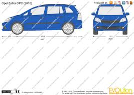 opel zafira 2005 the blueprints com vector drawing opel zafira opc