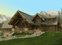 Hillside Garage Plans by Timber Frame Mountain Homes U0026 Plans Luxury Mountain Homes