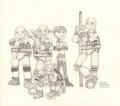 2012 teenage mutant ninja turtles gang by flowerphantom on deviantart