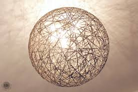 Paper Pendant Lights Diy Globe Light Made With A Balloon String And Paper Mache
